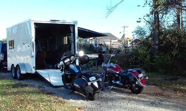 Using a toy hauler to move motorcycles