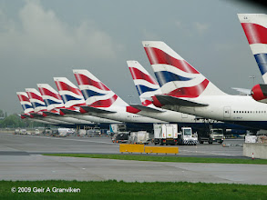 Photo: British Airways tails at the new Terminal 5 at London Heathrow Airport (LHR/EGLL)