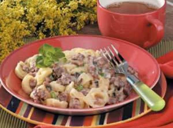 Tortellini And Sausage Alfredo