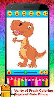 Little Dino Coloring Book Drawing For Kids App Poster