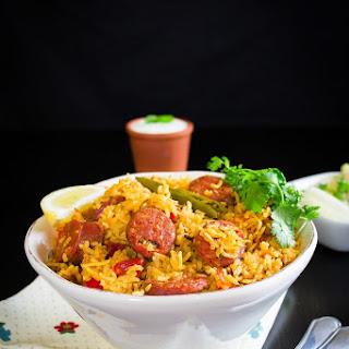 Spicy Chorizo Rice Pot.