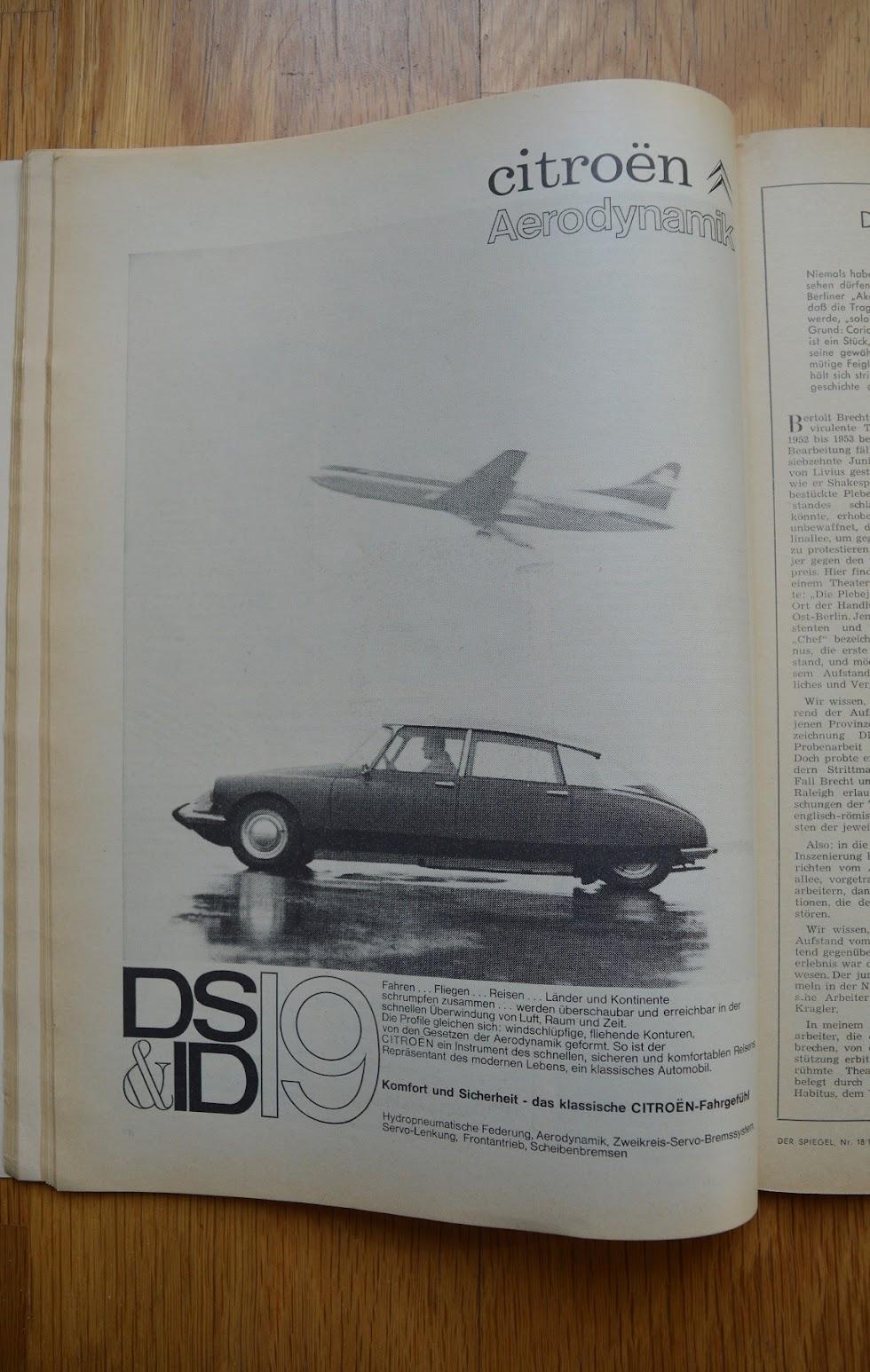 DER SPIEGEL, 29. April 1964 - Werbung für Citroen