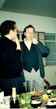Photo: Liam encourages me in some ingestible experimentation! This chap was always a bad influence!!