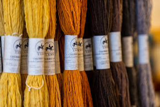 Photo: Churro yarn at Tierra Wools, Los Ojos