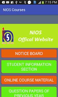 NIOS Courses - náhled