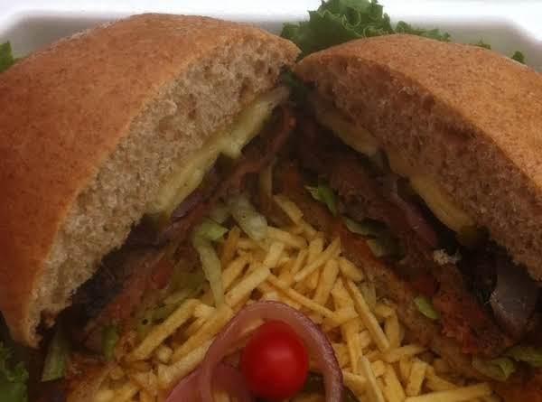 Sweet And Heat Cajun Burger!