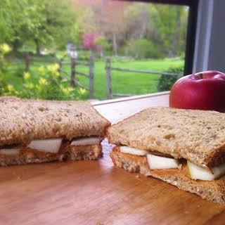 Apple Peanut Butter Sandwich.