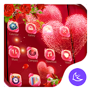 Red rose love-APUS launcher  free theme