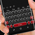 Carbon Fiber Black and Red Keyboard Theme icon