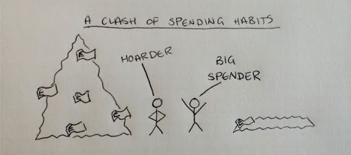 A clash of spending habits