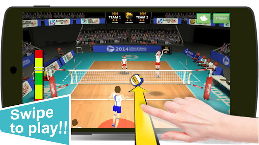 Volley-ball 3D captures d'u00e9cran 2