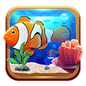 Underwater world aquarium icon