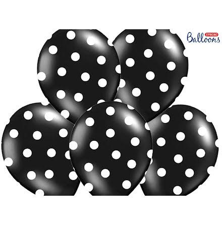 Ballonger - Svarta med vita prickar