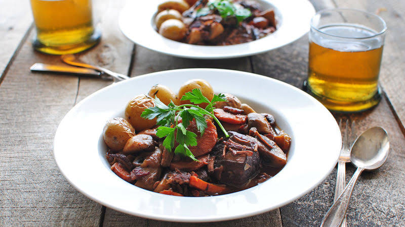 Julia Childs Beef Bourguignon
