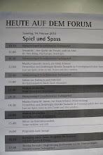 """Photo: Aktivitäten im Forum """" älter werden macht Spass. """"  Unsere Auftrittszeiten waren:  10.30 / 11.30 / 12.30 / 14.10 / 17.00 h"""
