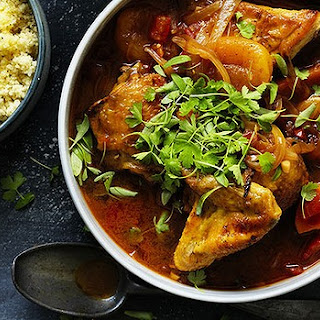 Chicken Tagine With Mango And Apricot.