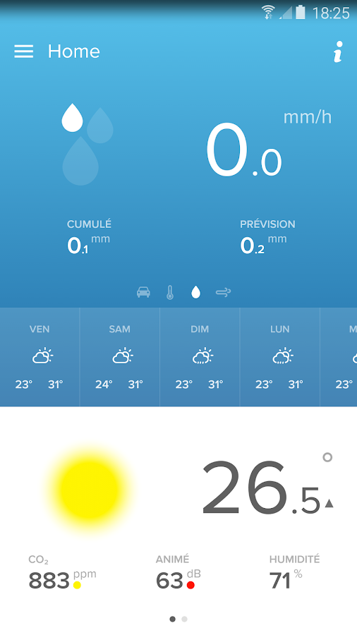 Netatmo Weather – Capture d'écran