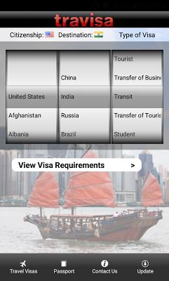 Travisa Visa - screenshot