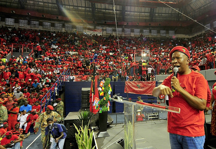 An EFF rally in Johannesburg. Picture: VELI NHLAPO