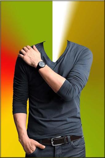 Black T Shirt Photo Suit