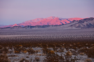 Photo: Sunset alpenglow in the Mojave Desert south of Amboy March 2012