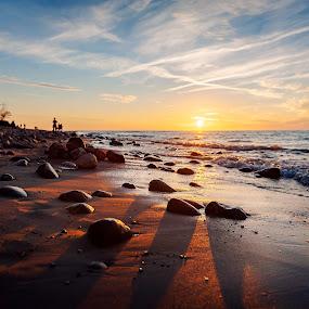 Rozewie by Paweł Mielko - Landscapes Beaches ( landscapes, baltic, poland, tourism, landscaping, summer, sea, beaches, seascape, seascapes, sunset, beach, stones, rozewie, baltic sea, europe, landscape,  )