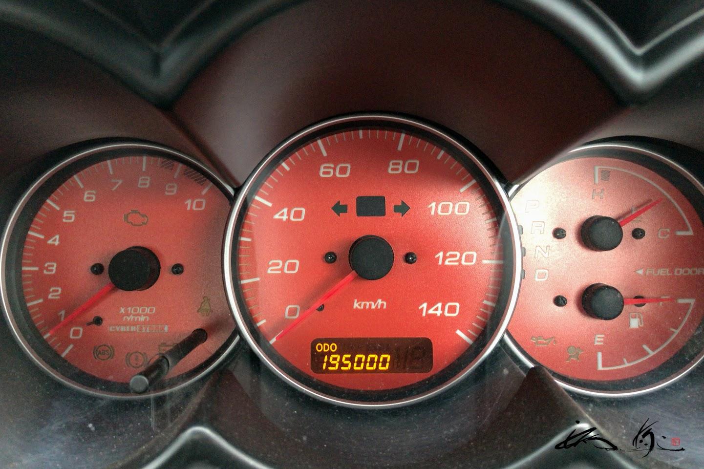 19万5千km超え!!!