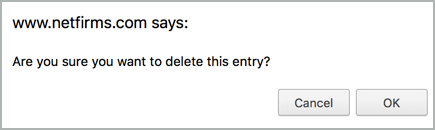 """Are you sure you want to delete this entry?"""