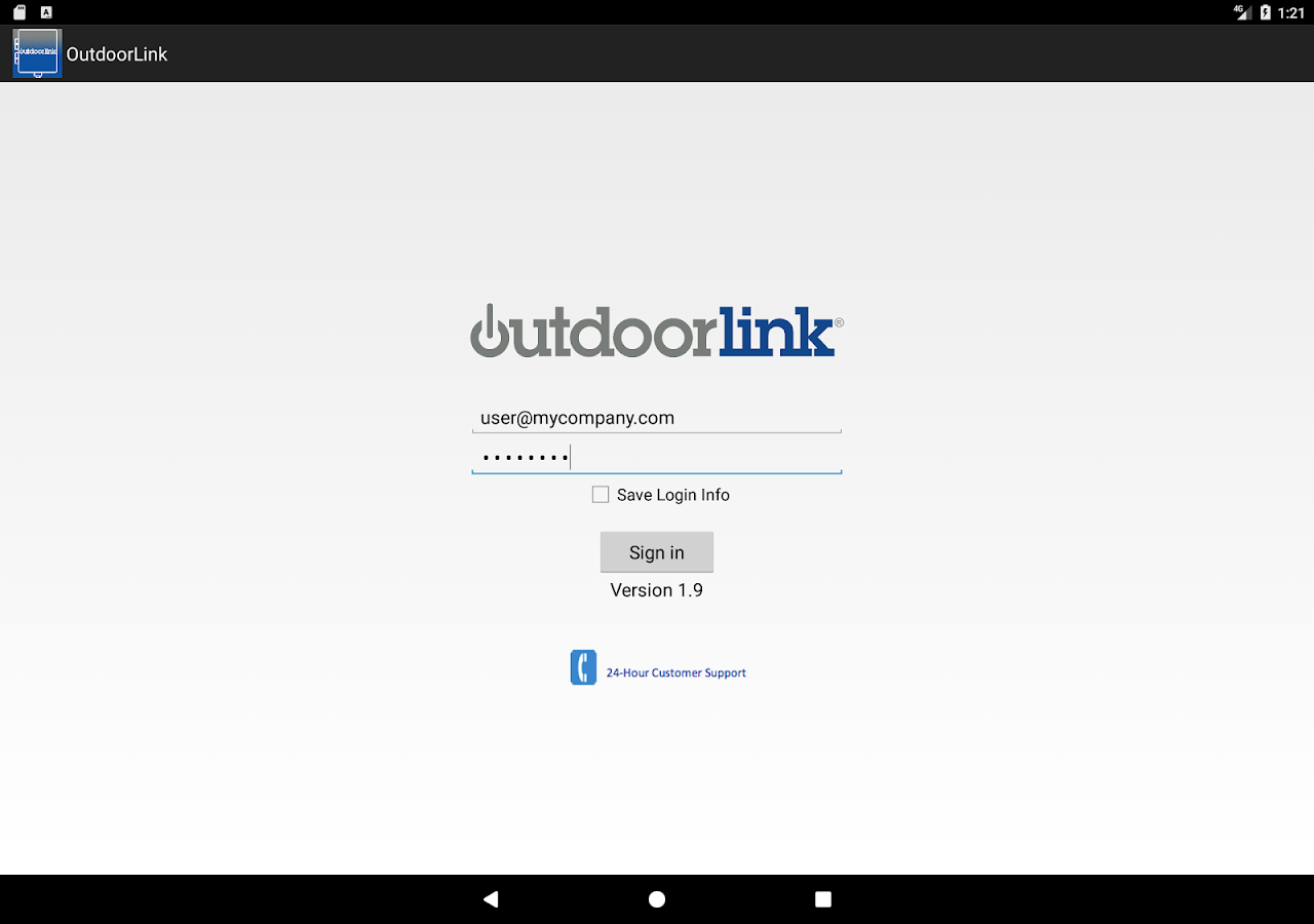 OutdoorLink Control- screenshot