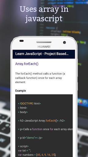 Lernen Sie JavaScript - Projektbasierte Tutorials Punkt-Screenshots 6