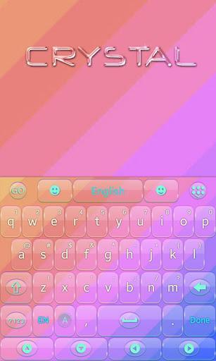 Crystal GOKeyboard Theme Emoji