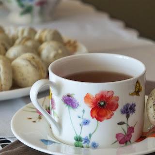 Black Tea Macarons with Honey Swiss Meringue Buttercream
