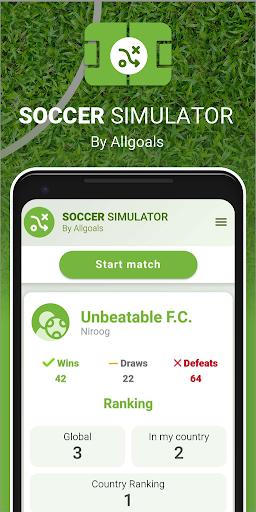 Soccer Sim  captures d'écran 1