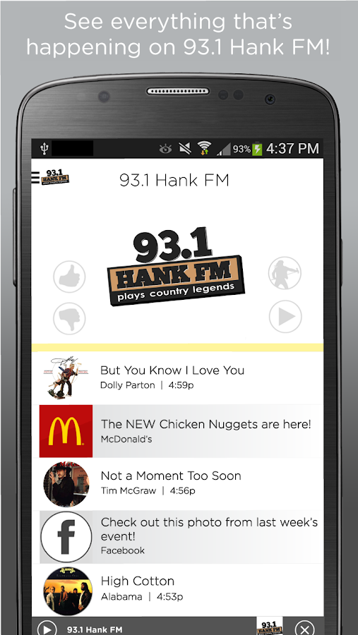 93.1 HankFM- screenshot