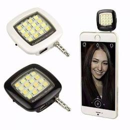 Flash portabil telefon / tableta conectare jack cu 16 leduri si 3 trepte luminozitate