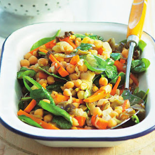 Chickpea Vegetables with Cumin Couscous.