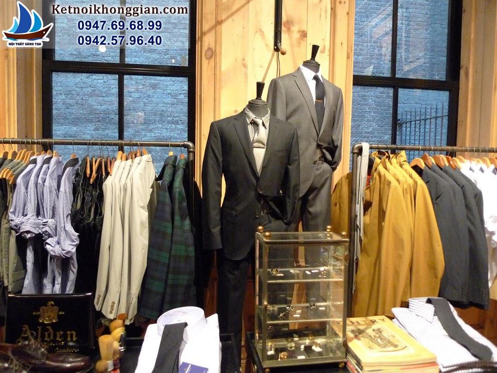 thiết kế shop thời trang nam diện tích nhỏ