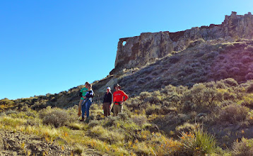 Photo: On the way up to the Hole in the Wall - about noon on Friday