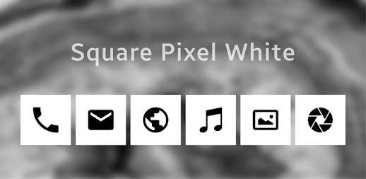 Square Pixel Dark White AMOLED UI - Icon Pack APK