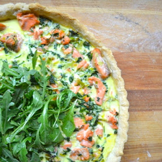 Arugula, Salmon, and Leek Tart Recipe