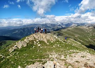 Photo: depuis le Costabona, le Col del Pal,les sources du Tech et Roc Colom
