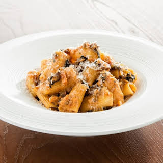 Rigatoni with Vegetable Bolognese.