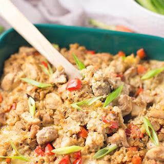 Chicken Cauliflower Fried Rice Casserole.