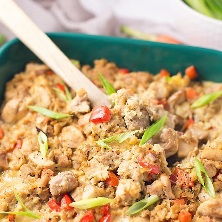 Chicken Cauliflower Fried Rice Casserole