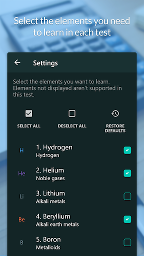 Atom - Periodic Table & Tests - screenshot