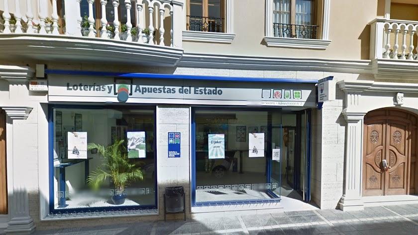 Administración de Lotería número 2 de Tíjola, donde se ha sellado el boleto acertante