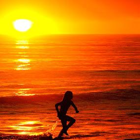 Sunset dip by Greg Harrington - Babies & Children Children Candids