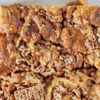 Gluten-Free Chocolate Peanut Butter Chex Treats.