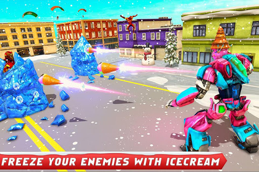 Ice Cream Robot Truck Game - Robot Transformation filehippodl screenshot 3