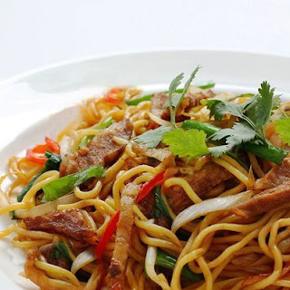 Thai Stir-Fried Noodles with Beef.